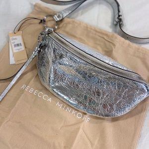 Rebecca Minkoff SS19EIMB04 Bree Belt Bag Silver